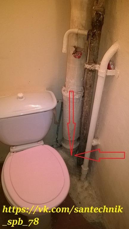 Снять заглушку с канализации